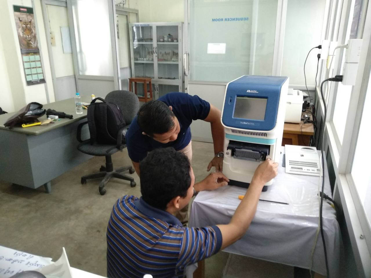 Real -time PCR and 3500 Genetic Analyzer Servicing at Yangon University